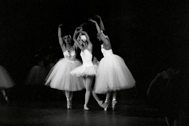 Left-right: Rosemary Mildner, Marilyn Jones and Suzanne Musitz in The Australian Ballet's Swan Lake 1962 production.