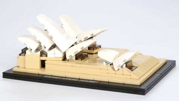 Hours of fun ... Lego Sydney Opera House from Lego Architecture.