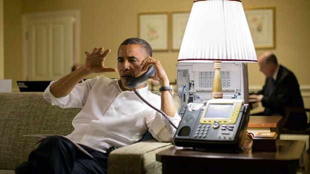 Practical ... Barack Obama talks to Benjamin Netanyahu.