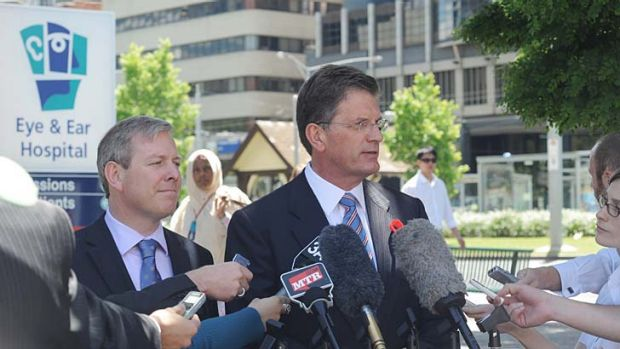 Ted Baillieu at the Royal Victorian Eye and Ear Hospital in 2009.