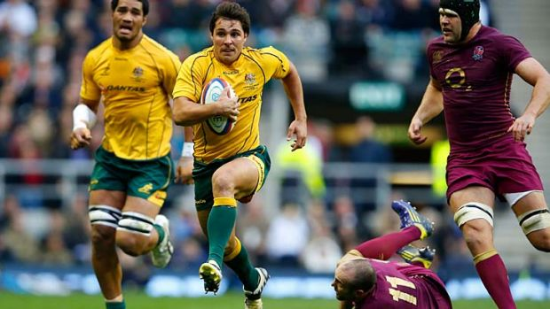 Take a seat … Wallabies halfback Nick Phipps, who impressed against England last weekend, will drop back to the ...