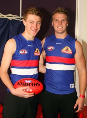 The Western Bulldogs' first two selections, Jackson Macrae and Jake Stringer.