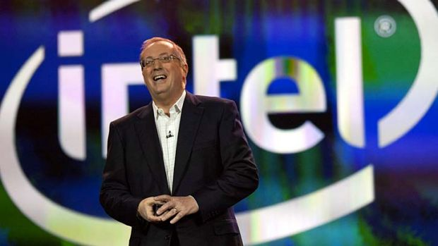 Outgoing ... Intel chief executive Paul Otellini.