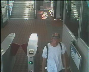 CCTV footage of the man wanted over the attempted bank robbery.