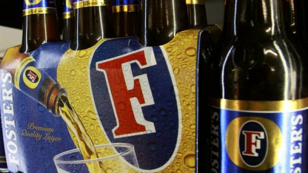 The bubble has burst on Foster's, with sales volumes off 13 per cent.