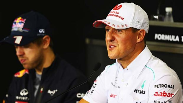 Facing his final race ... Michael Schumacher.