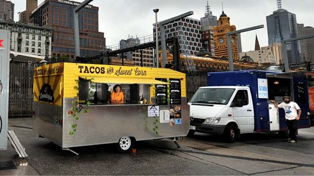 The mobile food vans. Gumbo Kitchen (right) will not receive a new permit.