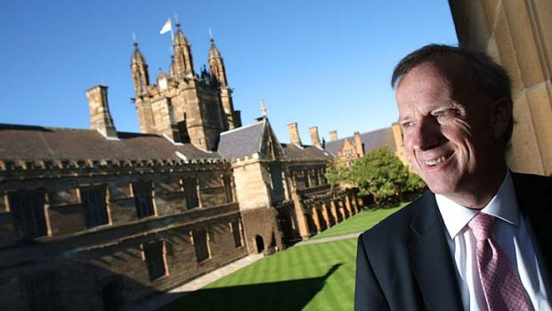A step ahead of Oxford ... Dr Michael Spence, Vice-Chancellor of Sydney University.