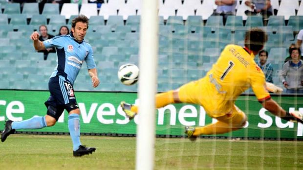 Worthy attempt ... Alessandro Del Piero shoots at goal.