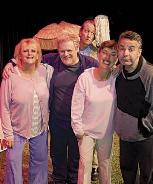 The stars of <i>More Sex Please, We're Seniors</i>, at the Comedy Theatre.