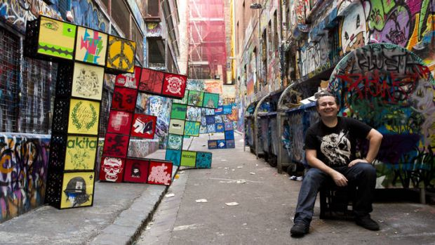 Exhibition curator Eddie Zammit, who began collecting T-shirts in the 1990s, has amassed 4000.