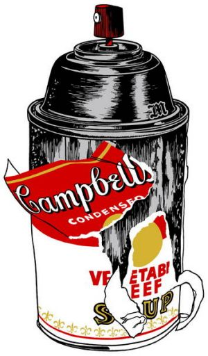 Designer Merda's modern twist on the Warhol Campbell's soup can.