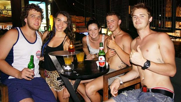 Removing the stigma … Georgia Maher and her friends enjoying their schoolies trip to Bali.