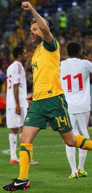 Triumph … Socceroo Brett Holman has proved his critics unfair and wrong in recent seasons.