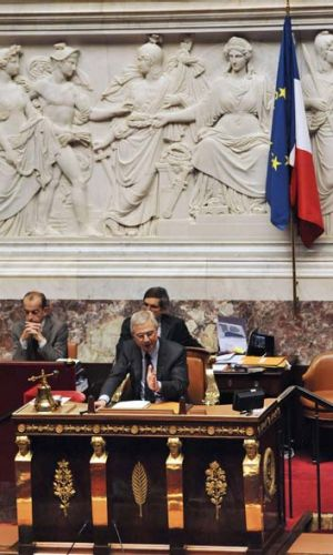 Declined to use the scrambling device ... the French National Assembly's Speaker, Claude Bartolone.