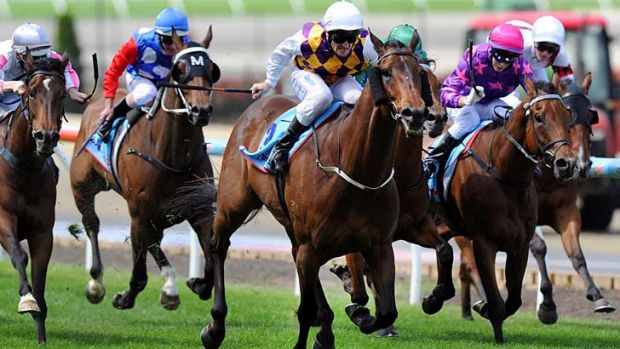 Brad Rawiller rides Commanding Time.