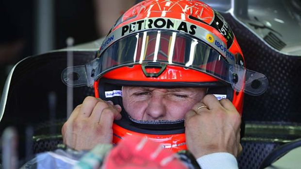 Time to go: Michael Schumacher.