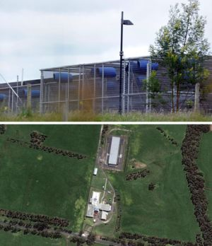 The Gippsland breeding facility, from the ground and air.