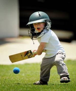 Archie Brown has a hit while on the sidelines at the T20 match between Eastlake and Weston Creek.