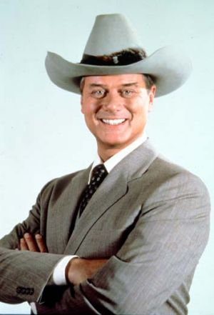 ''Born to play villainy'' … Larry Hagman as J.R. Ewing.