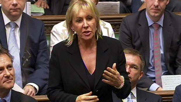 Voted out of the jungle ... Conservative British MP Nadine Dorries.