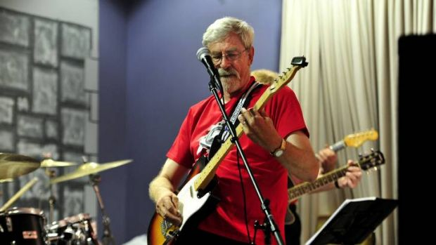 Playing out the next chapter ... former Labor MLA John Hargreaves performs with the band the Old 45s at the Burns Club, ...