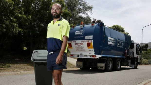 Cleanaway driver Richard Carling while at work helped an elderly McKellar resident who had fell and broke her hip.
