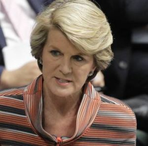Julie Bishop, leading the attack.
