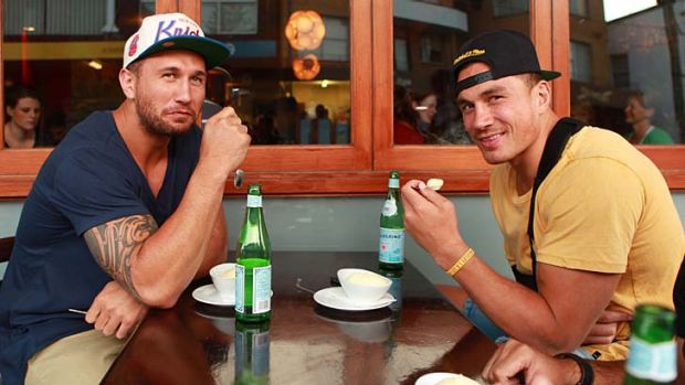 Ring mates ... Quade Cooper and Sonny Bill Williams in Randwick last week. Cooper will make his boxing debut on the ...
