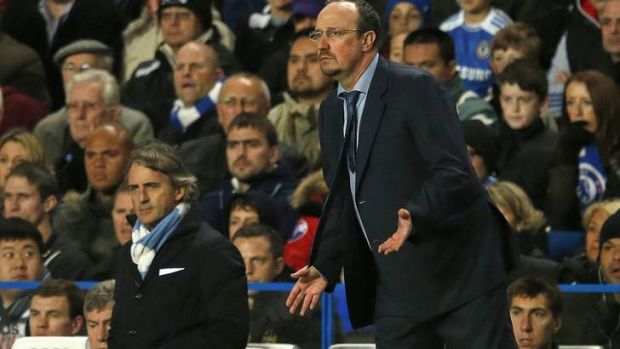 First game in charge ... Rafael Benitez.