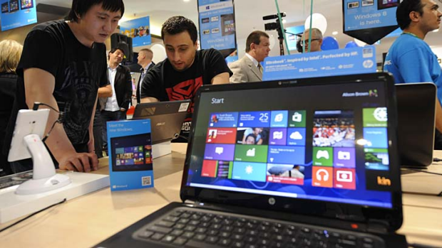 """The """"live tile"""" interface on Windows 8 has been labelled a poor choice for desktop computers."""