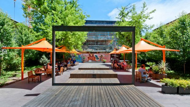 NewActon's courtyard will host movies this summer.