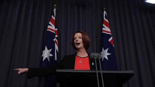 Prime Minister Julia Gillard takes questions from the media on her time as solicitor in the 1990s.