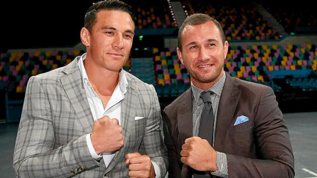 Chin wagging ... Sonny Bill Williams hopes to lure Wallaby Quade Cooper to the Sydney Roosters.