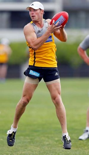Brad Sewell at training.