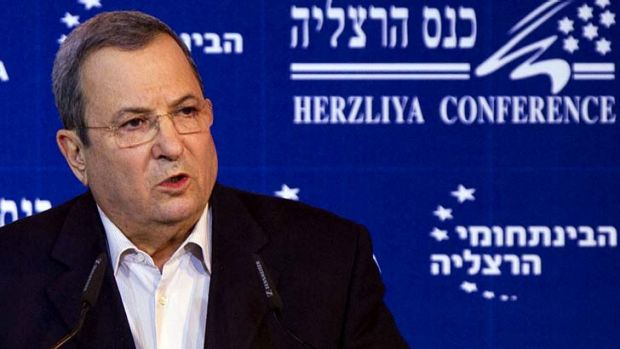 Surprise resignation ... Ehud Barak.