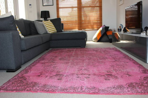 Overdyed Turkish rug from bazaarbazaar.com.au.