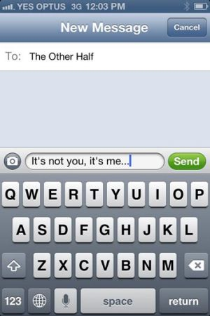 It's over, farewell, it's not you... No matter which words you choose, text is probably not the best way to say them.