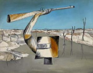 Sold … Sidney Nolan's 1955 painting Ned Kelly: Crossing the River belonged to the artist's daughter, Jinx.