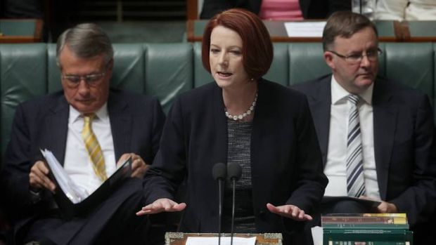 Julia Gillard wasn't too fussed by the Opposition's line of questioning during Question Time.
