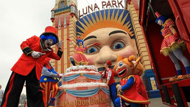 Happy Birthday ... Luna Park Sydney is sending it's Melbourne counterpart a giant cake to celebrate its 100th birthday.