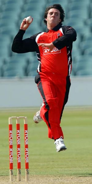 Ready to roll: Daniel Worrall of the Redbacks.