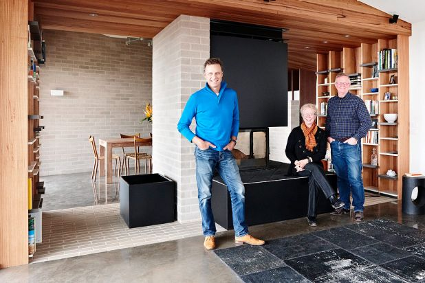 16. As host of Grand Designs Australia, Peter Maddison (left) brings knowledge and authority, along with an easy manner.