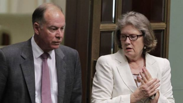 Liberal backbenchers Judi Moylan and Russel Broadbent.