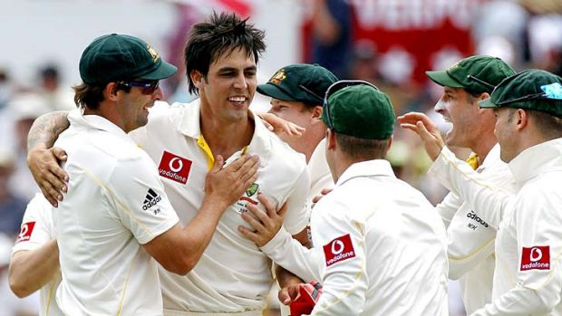Horses for courses … Mitchell Johnson has 30 scalps in Perth.