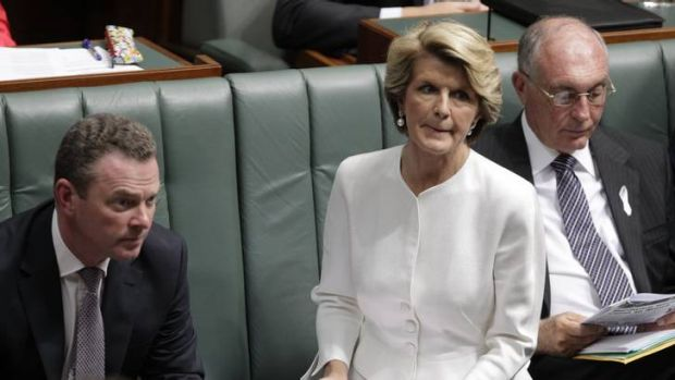 Deputy Opposition Leader Julie Bishop questions Prime Minister Julia Gillard during question time this week.