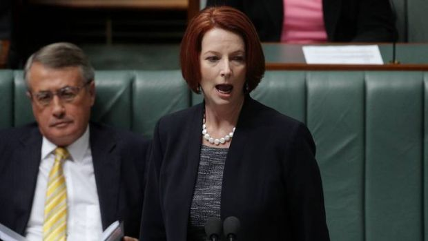 Prime Minister Julia Gillard during Question Time at Parliament House in Canberra on Tuesday.