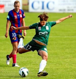Ariane Hingst sufferd a quad tear during Canberra United's trip to Japan.