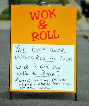"Portia Yeung is now manager of ""Wok and Roll"" in Fyshwick."