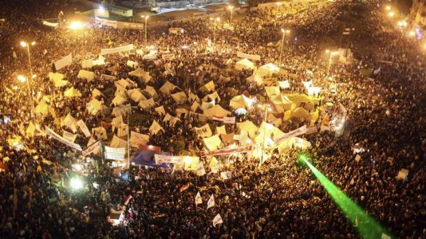 Democracy not dictatorship … the chanting crowds crammed into Tahrir Square in Cairo reflect Egypt's increasingly ...